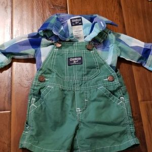 Oshkosh overall outfit